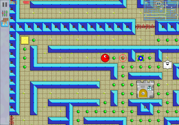 Screenshot of one of the first levels.