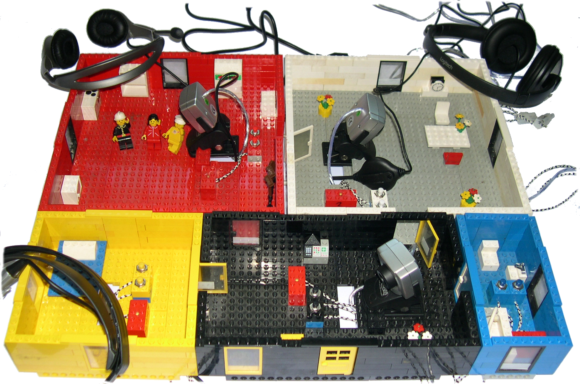 The Lego-eHome-demonstrator in its normal setup.